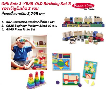 Gift Set 02B : 2 - Year -Old  Birthday Set B