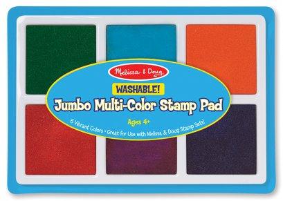 Melissa & Doug รุ่น 2419 Jumbo Multi-Color Stamp Pad ชุดแท่นหมึก สีปลอดสารพิษสีรุ้ง ส่งเสริมการเล่นแบบมีจินตนาการ