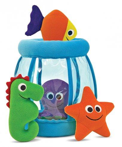 Melissa & Doug รุ่น 3044 Fishbowl Fill and Spill ชุดของเล่นผ้าเด็กเล็ก เรียนรู้การแยกแยะสี เป็นของเล่นเสริมพัฒนาการ