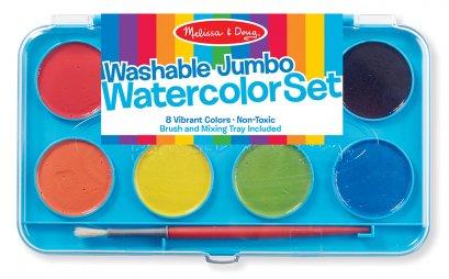 Melissa & Doug รุ่น 4121 Jumbo Watercolor Paint Set ชุดสีน้ำ รุ่นจัมโบ้ 8 สี  ส่งเสริมการเล่นอย่างมีจินตนาการและการมีสมาธิ