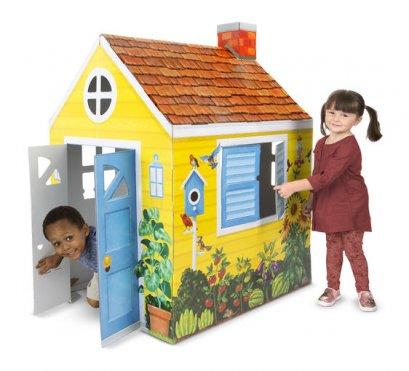 5509 บ้านกระดาษแข็งแบบแข็งแรงพิเศษ พับเก็บได้หากเลิกเล่น  Cottage Playset