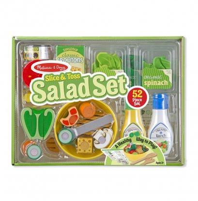 Melissa & Doug รุ่น 9310 Slice & Toss Salad Set ชุดสลัดและผักครบชุด ส่งเสริมการเล่นแบบมีจินตนาการ สอดคล้องกับการใช้ชีวิตจริง