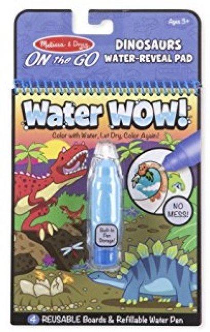 9315 ระบายสีด้วยน้ำรียูสซาเบิล รูปไดโนเสาร์ เล่นแล้วเล่นอีกได้ มาเป็นเล่ม 4 แผ่น Water Wow - Dinosaurs