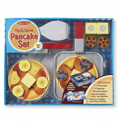 Melissa & Doug รุ่น 9342 Wooden Flip & Serve Pancake Set ชุดทำวาฟเฟิลแพนเค้ก ส่งเสริมการเล่นแบบมีจินตนาการ สอดคล้องกับการใช้ชีวิตจริง