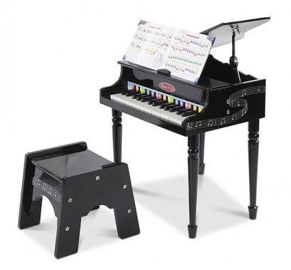 Melissa & Doug รุ่น 1315 Grand Piano ชุดแกรนด์เปียโน สำหรับเด็กฝึกการบังคับนิ้วและมือให้สอดคล้องกับสมอง สร้างสรรค์เสียงเพลงด้วยตนเอง