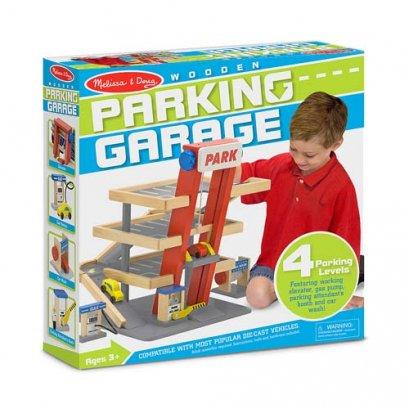 Melissa & Doug รุ่น 4595 ชุดเล่นอาคารจอดรถแบบสมบูรณ์แบบ มีทั้งสโลปขึ้นลง ลิฟท์ยกรถขึ้นลง ส่งเสริมการเล่นสวมบทบาท เลียนแบบสิ่งที่เห็นรอบตัว สร้างสถานการณ์ เล่นอย่างมีจินตนาการ Parking Garage