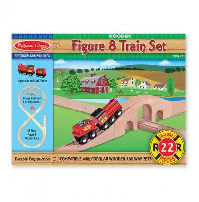 Melissa & Doug รุ่น 703 Figure 8 Train Set ชุดต่อรางรถไฟ ส่งเสริมการเล่นแบบเสริมกล้ามเนื้อ (bart3)