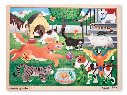 9059   จิ๊กซอไม้ รูปสัตว์เลี้ยง ส่งเสริมการเล่นแบบมีสมาธิ Pets Jigsaw 24 pc