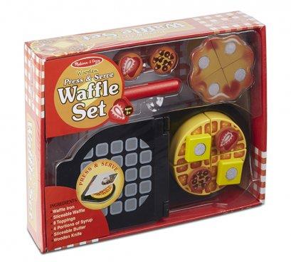 Melissa & Doug รุ่น 9346 Press & Serve Waffle Set ชุดทำวาฟเฟิล ส่งเสริมการเล่นแบบมีจินตนาการ เสริมสร้างการเล่นแบบสวมบทบาท