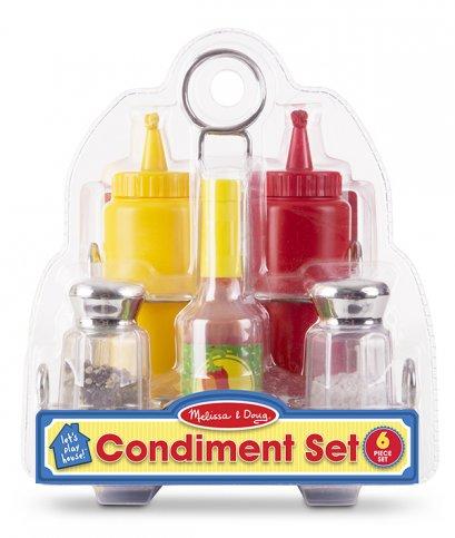 [6ชิ้น] รุ่น 9358 ชุดตระกร้าเครื่องปรุง Melissa & Doug Condiment Set รีวิวดีใน Amazon USA ไม่เหมือนใคร เหมือนของจริง จับถนัดมือ ของเล่นเด็ก