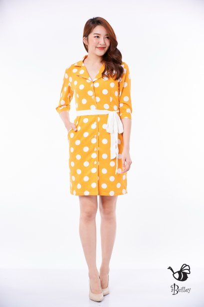 Yellow Light Polka Dress