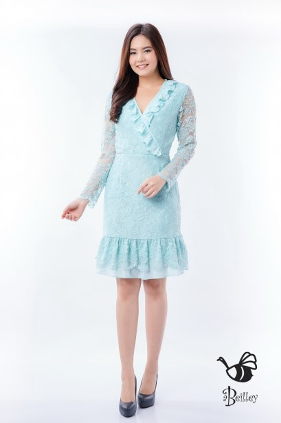 Christmas Mint Lace Dress