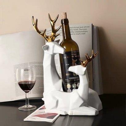 Couple deer wine rack