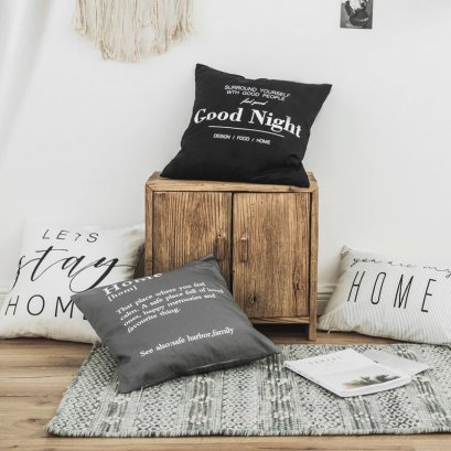 'HOME' pillow case