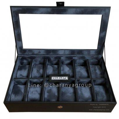 กล่องใส่นาฬิกา 12 เรือน Series M CHR12_L Black-Blue