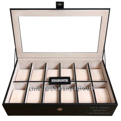 กล่องใส่นาฬิกา 12 เรือน Series M CHR12_L Black-Cream