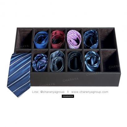 12 PIECE Necktie storage box กล่องใส่เนคไนค 12 เส้นถาดลิ้นชัก ถาดใส่เครื่องแต่งกาย ที่ใส่เนคไท ที่เก็บเนคไท กล่อง12ช่อง