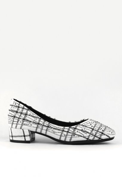 Sloane Block Heels - White