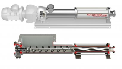 "DX - JX Sanitary Progressive Cavity Pump (SCREW PUMP) ""NOVA ROTORS"""