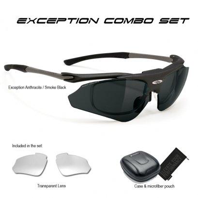 Exception Anthracite Smoke Black + Transparent Lens Combo Set
