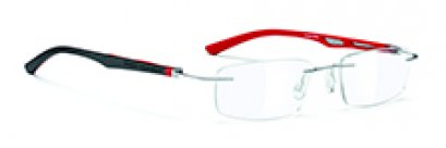DNA Rimless Chrome-black-red