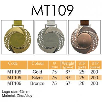 เหรียญรางวัลโลหะผสม MT109