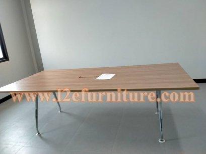 โต๊ะขาเหล็ก A Series (สีบรอนด์-โครเมี่ยม)