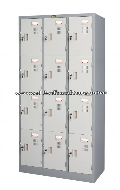 President LK012 ตู้ล็อกเกอร์ ชนิด 12 ประตู กุญแจอิสระ รุ่น มอก