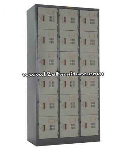 President LK018 ตู้ล็อกเกอร์ ชนิด 18 ประตู กุญแจอิสระ รุ่น มอก.