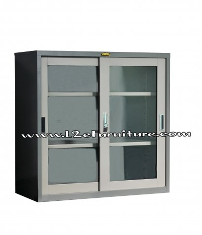 President SLG13 ตู้บานเลื่อนกระจก ขนาด 3 ฟุต