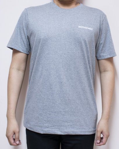 Grey crew neck t-shirt(copy)