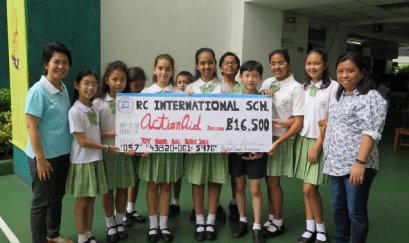 ActionAid Thailand Received Donation from Student Council of RC International School