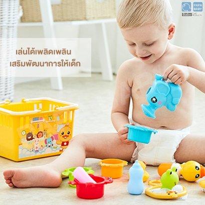 FIN WatergameToyset  รุ่น TCN0904 ตระกร้าชุดเซ็ทของเล่นเสริมทักษะเป็ดน้อย บรรจุของเล่นคละแบบ 12 ชิ้น ของเล่นเด็ก ลอยน้ำ