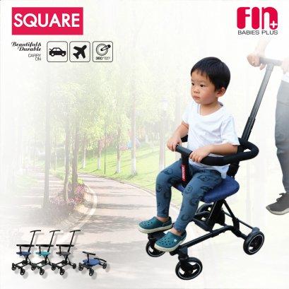 FIN รถเข็นเด็ก SQUARE 3 IN 1 รถขาไถ เชื่อมต่อรถเข็นได้ พับเก็บได้ พกพาสะดวก