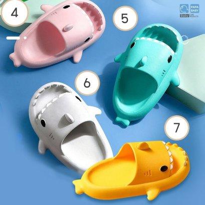 FIN รองเท้าแตะเด็กลายฉลามสามมิติ รุ่น ST-84 Light 3D Shark รองเท้าแตะ รองเท้าเด็ก พื้นนุ่มสวมใส่สบาย รองเท้าในบ้าน