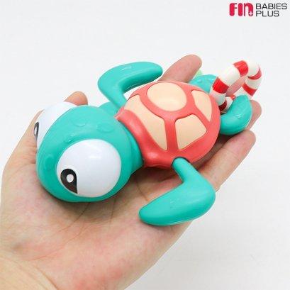 FIN ของเล่นน้องเต่าว่ายน้ำ เต่าไขลาน ของเล่นลอยน้ำ ขนาดใหญ่พิเศษ ผลิตจากวัสดุเกรด A เพิ่มความสนุกในการอาบน้ำ รุ่นTCNF19
