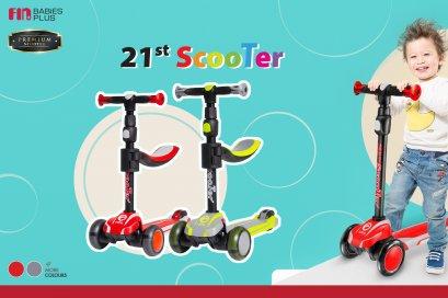 Fin Babies Plus สกูตเตอร์ 2 In 1 ปรับเป็นขาไถได้ ล้อมีไฟกระพริบ สำหรับเด็กอายุ 3 ปีขึ้นไป รองรับน้ำหนักได้ถึง 55 กิโลกรัม รุ่น D3