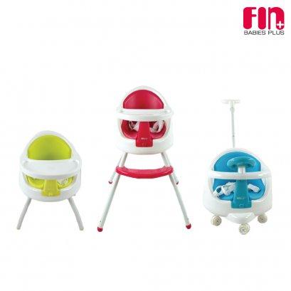 เก้าอี้ทานข้าวเด็ก 3 IN 1 ปรับระดับ ปรับเข็นได้ รุ่น CAR-EC02