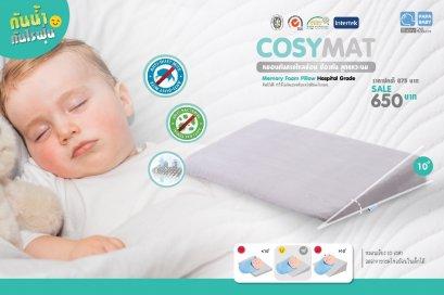 PAPA Baby Acid reflux pillow หมอนกันกรดไหลย้อน ทำจากวัสดุชั้นดีกันน้ำ ไรฝุ่นและแบคทีเรีย มีให้เลือก 4 สีรุ่น PLWD56