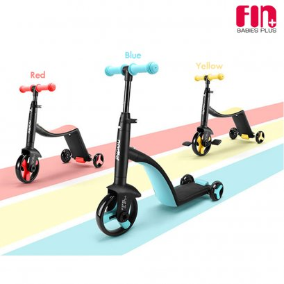 FIN BABIEPLUS สกู๊ตเตอร์ 3IN1 Evolution Rider Tricycle Scooter รุ่น TF3-1