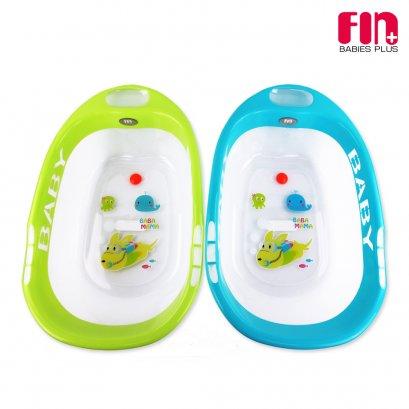 FIN BABIESPLUS อ่างอาบน้ำเด็ก วัสดุโปร่งใส 47x75x20 ซม. รุ่น USE-033