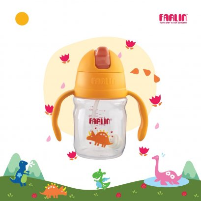FARLIN แก้วหัดดื่มแบบมีหลอดดูด กันสำลัก ดูดสะดวก รุ่น USE-AG10022