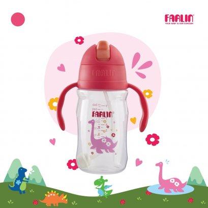 FARLIN แก้วหัดดื่มแบบมีหลอดดูด กันสำลัก ดูดสะดวก รุ่น USE-AG10021