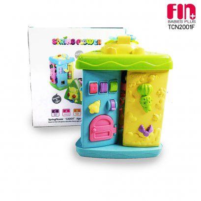 FIN ของเล่นเสริมพัฒนาการรูปสามเหลี่ยม Calf triangle toy box รุ่น TCN2001F มีเสียง หมุนได้