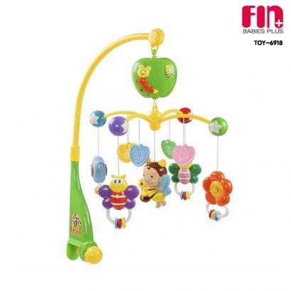 โมบายดนตรีเด็กแบบใส่ถ่าน หมุนได้ มีเสียงเพลง รุ่น TOY-6918