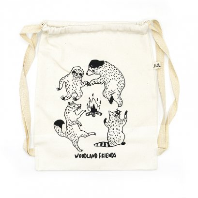 DRAWSTRING BAG AC0801 WOODLAND FRIENDS