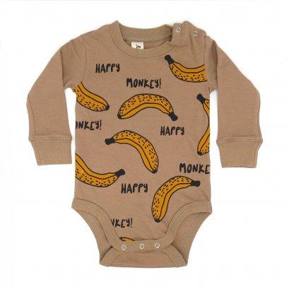 BABY 0-18M [B] LP0167 HAPPY MONKEY ONESIE