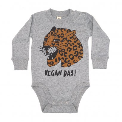 BABY 0-18M [B] LP0193 VEGAN DAY ONESIE