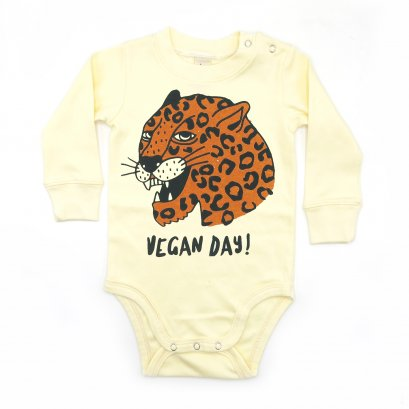 BABY 0-18M [B] LP0194 VEGAN DAY ONESIE