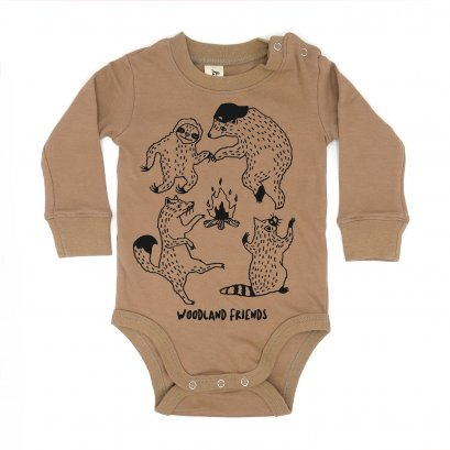 BABY 0-18M [C] LP0101 WOODLAND FRIENDS ONESIE